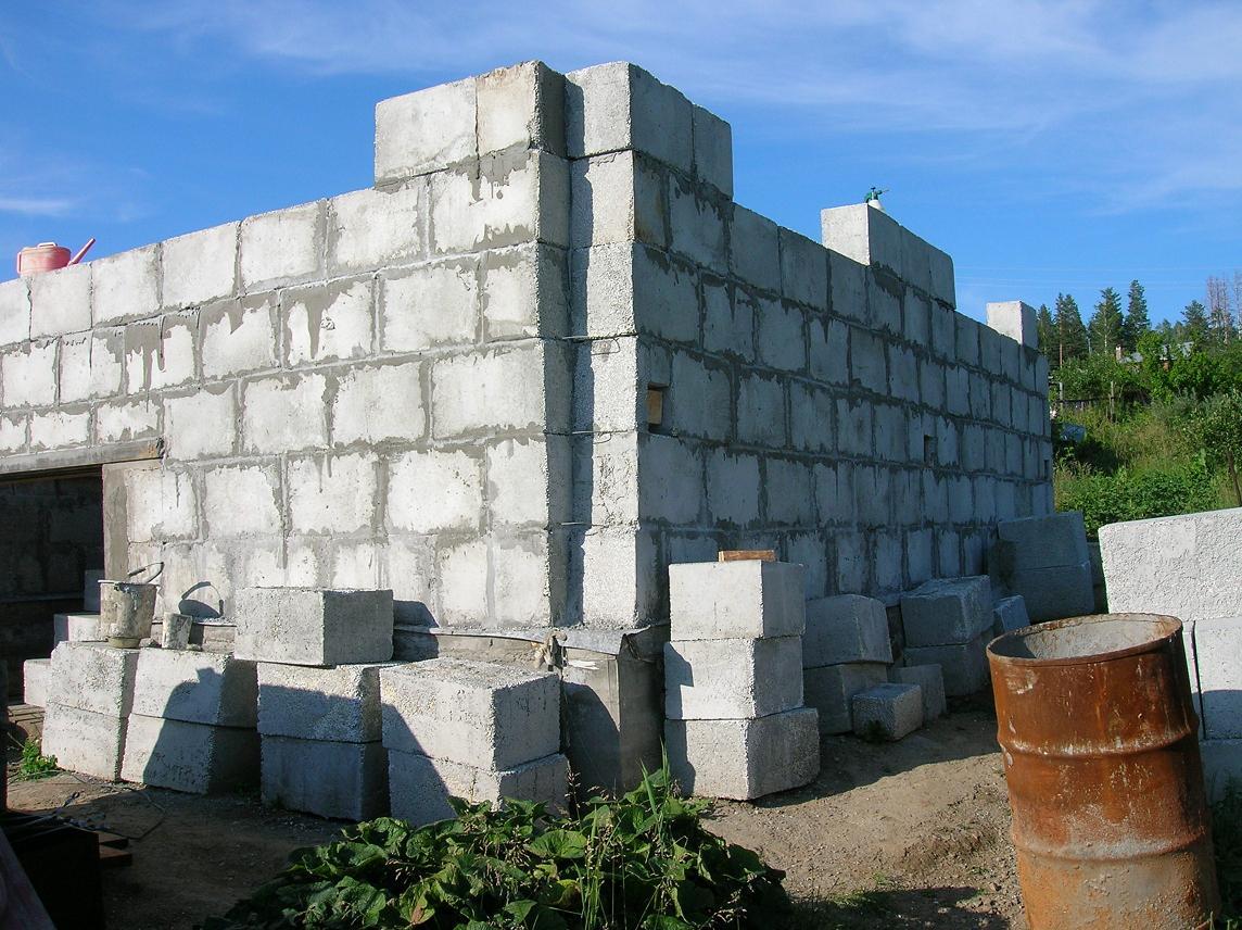 как построить дом из полистиролбетонных блоков