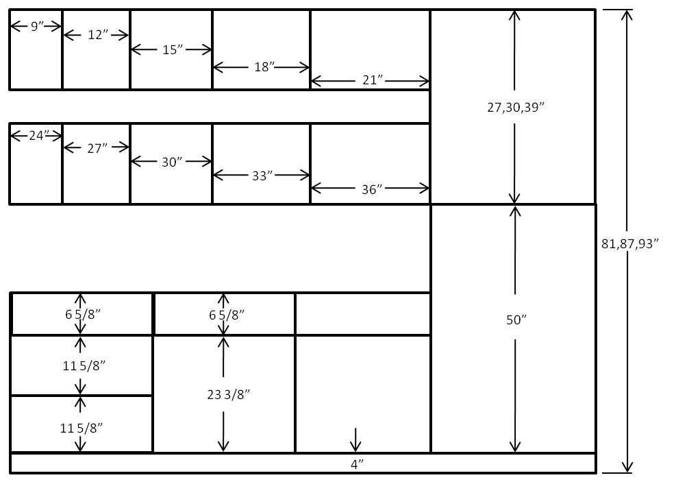 The Length Of The Kitchen Cabinets Standard Sizes Of Kitchen Furniture